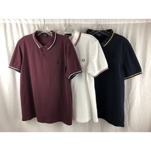 FRED PERRY Men's Polo Bundle (3) Sz Large